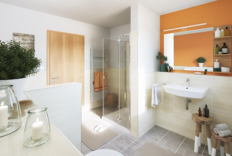Badezimmer - Haus Design Ideen innen Bungalow 110 von Town Country Haus - HausbauDirekt.de