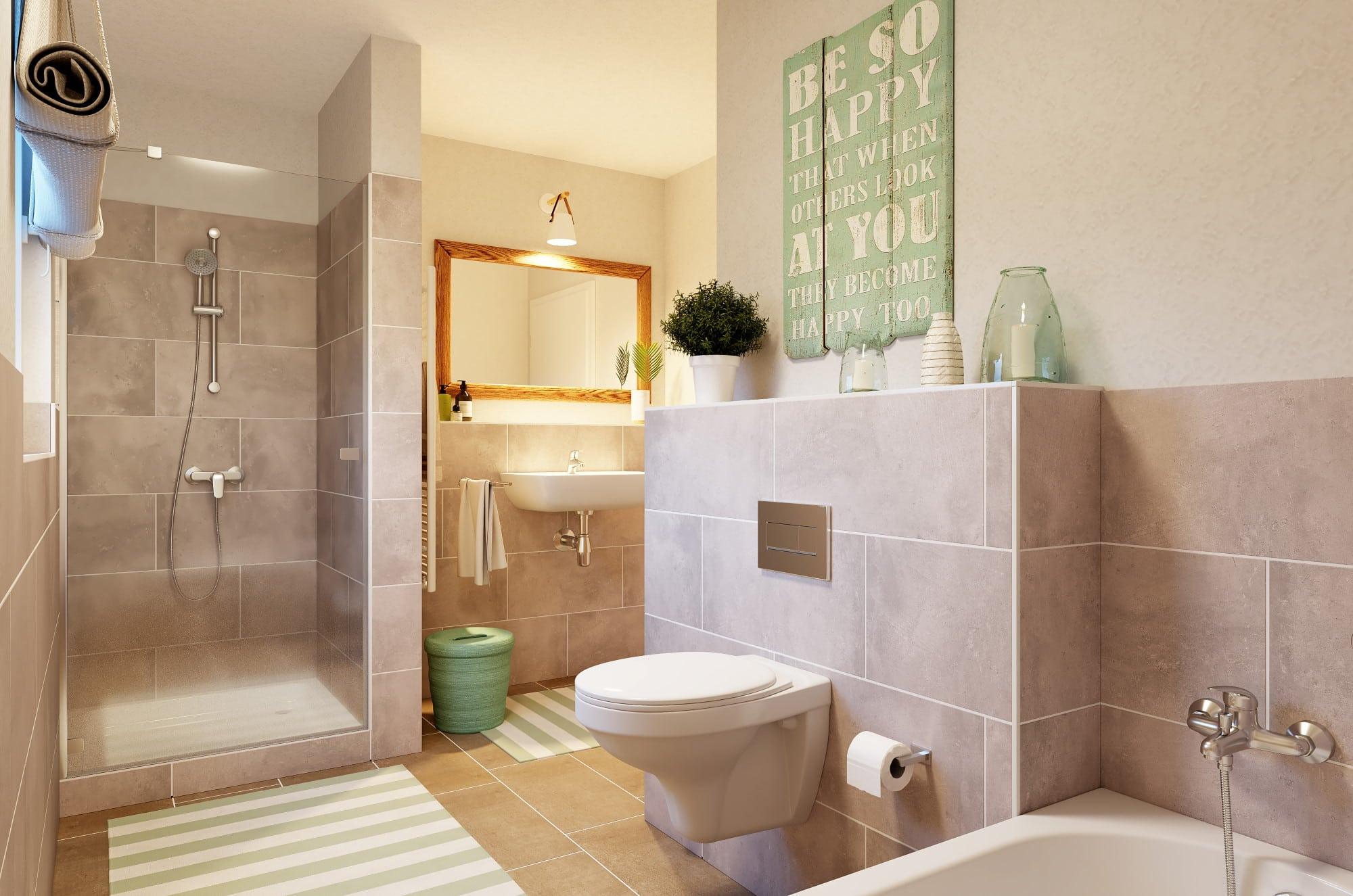 Badezimmer - Haus Design Ideen Inneneinrichtung Town Country Haus Bungalow 78 - HausbauDirekt.de