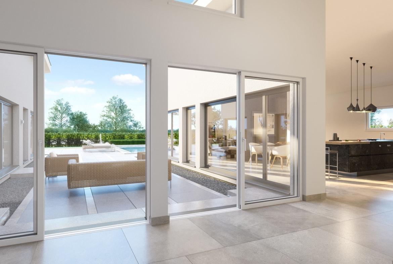 Bungalow AMBIENCE 209 SD - Innenraum mit offener Küche - Haus Ideen von Bien Zenker Haus - HausbauDirekt.de