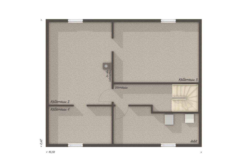 Bungalow Haus Grundriss Keller - Massivhaus bauen Ideen Town Country Haus Bungalow 78 - HausbauDirekt.de