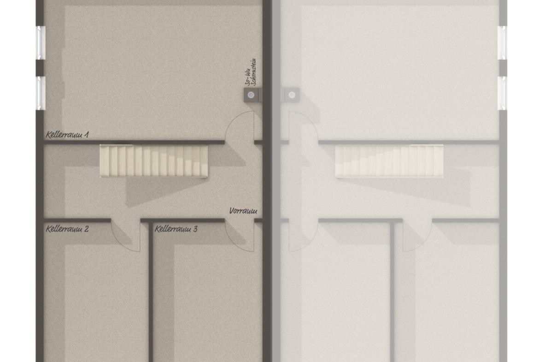 Doppelhaushälfte Grundriss Keller - Massivhaus schlüsselfertig bauen Idden Doppelhaus AURA 136 von Town Country Haus - HausbauDirekt.de