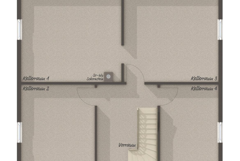 Einfamilienhaus Grundriss Keller - Massivhaus schlüsselfertig bauen Ideen Town Country Haus Flair 134 - HausbauDirekt.de