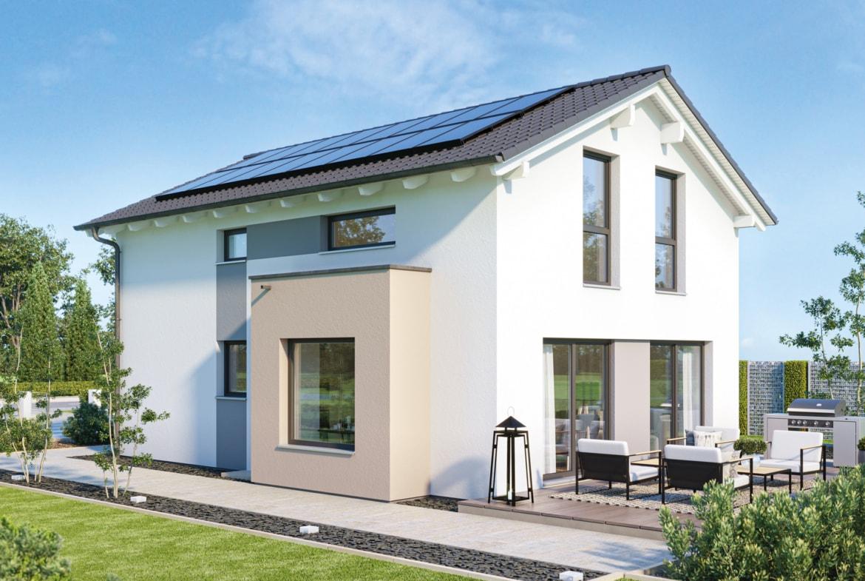 Einfamilienhaus Neubau mit Satteldach Architektur, 4 Zimmer, 120 qm - Haus bauen Ideen Bien Zenker Fertighaus EDITION 120 V4 - HausbauDirekt.de