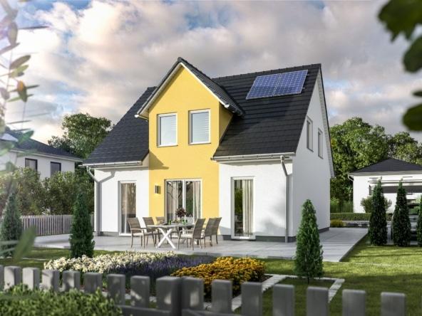 Einfamilienhaus mit Satteldach & Zwerchgiebel - Massivhaus Town Country Haus Flair 113 Trend - HausbauDirekt.de