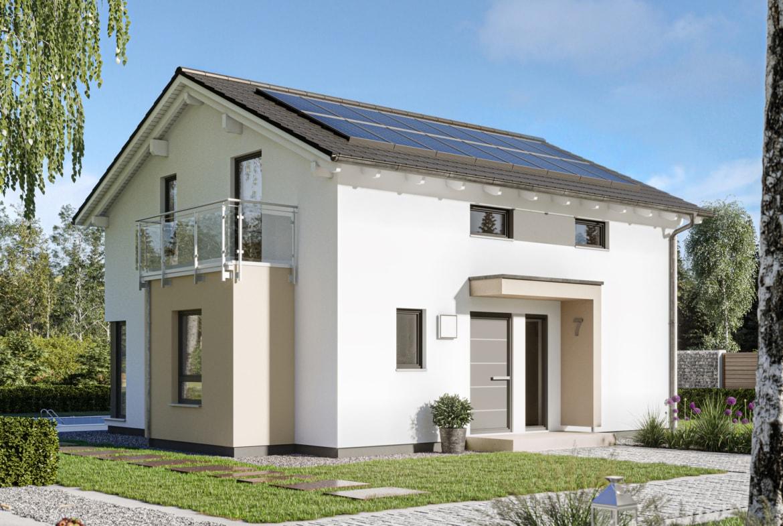 Einfamilienhaus Neubau mit Satteldach, Erker & Balkon, 5 Zimmer, 130 qm - Haus bauen Ideen Bien Zenker Fertighaus EDITION 134 V3 - HausbauDirekt.de