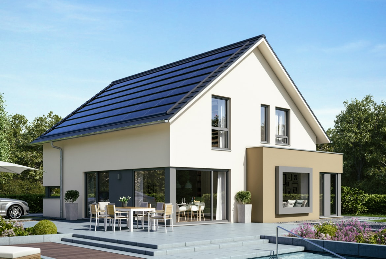 Einfamilienhaus klassisch mit Satteldach & Erker, 5 Zimmer, 161 qm - Haus bauen Ideen Bien Zenker Fertighaus FANTASTIC 162 V2 - HausbauDirekt.de