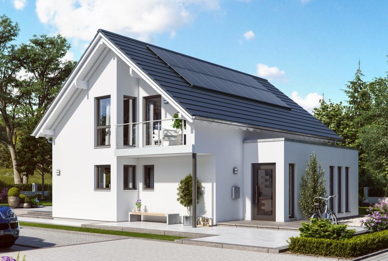 Einfamilienhaus klassisch mit Satteldach, 5 Zimmer, 140 qm - Fertighaus Living Haus SUNSHINE 143 V2 - HausbauDirekt.de