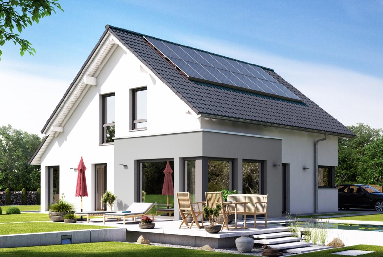 Einfamilienhaus klassisch mit Satteldach & Erker, 5 Zimmer, 140 qm - Fertighaus Living Haus SUNSHINE 143 V3 - HausbauDirekt.de