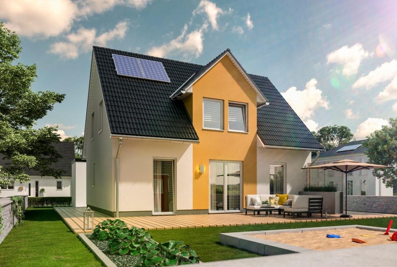 Einfamilienhaus mit Satteldach Giebel, 5 Zimmer, 125 qm - Town Country Haus Flair 125 Trend - HausbauDirekt.de