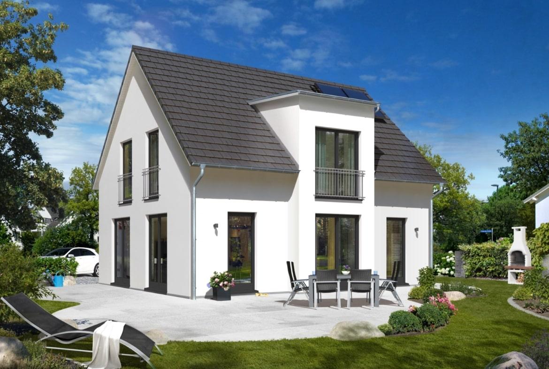 Modernes Einfamilienhaus mit Satteldach Architektur & Querhaus mit Flachdach Erker, 120 qm, 4 Zimmer - Massivhaus schlüsselfertig bauen Ideen Town Country Haus Lichthaus 121 Style - HausbauDirekt.de
