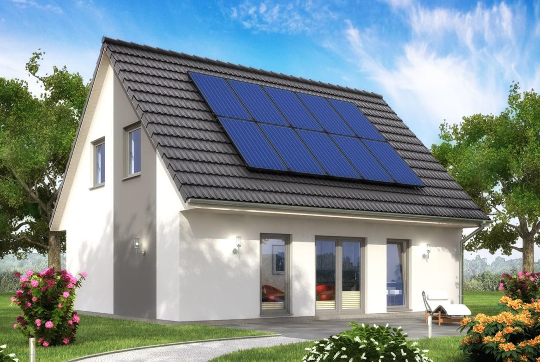 Einfamilienhaus Neubau klassisch mit Satteldach Architektur, 4 Zimmer, 106 qm - Haus bauen Ideen ScanHaus Marlow Fertighaus SH 122 VARIANTE A3 - HausbauDirekt.de