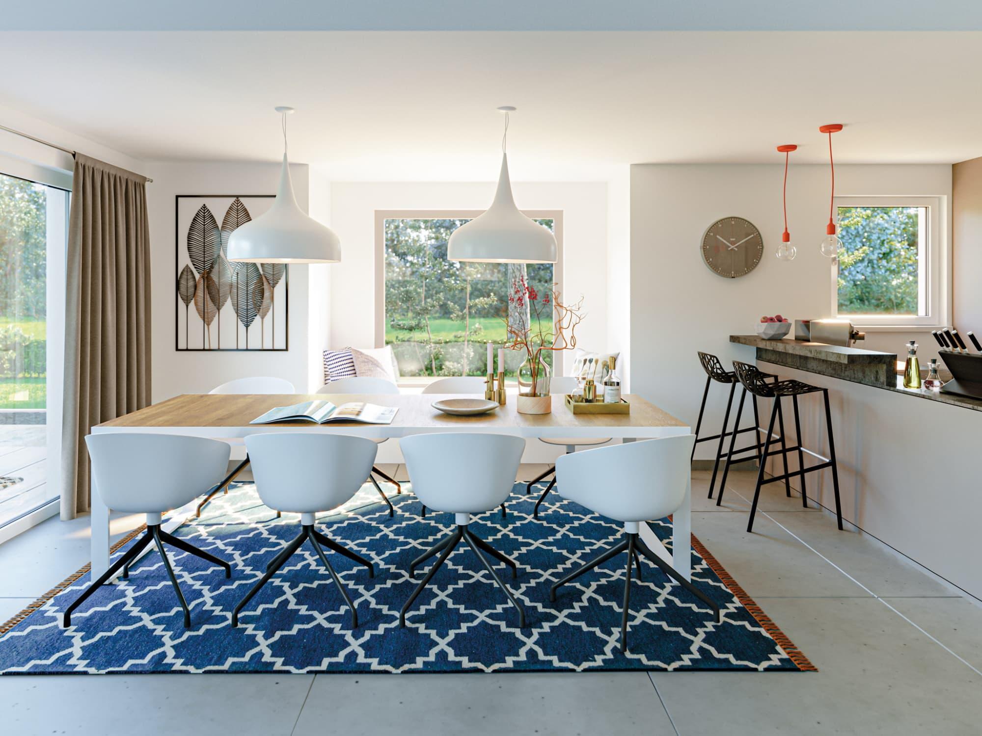 Esszimmer Ideen - Haus Design innen Stadtvilla Bien Zenker Fertighaus EDITION 120 V5 - HausbauDirekt.de