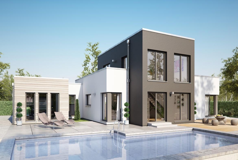 Fertighaus Bungalow AMBIENCE 100 V5 Flachdach Bien Zenker Haus