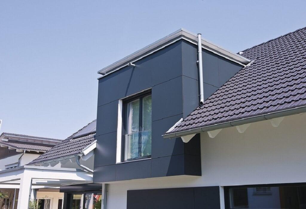Dacherker & Gaube mit Flachdach - Architektur Detail Haus bauen Design Ideen außen WeberHaus Fertighaus Generation 5.5 Haus 300 - HausbauDirekt.de