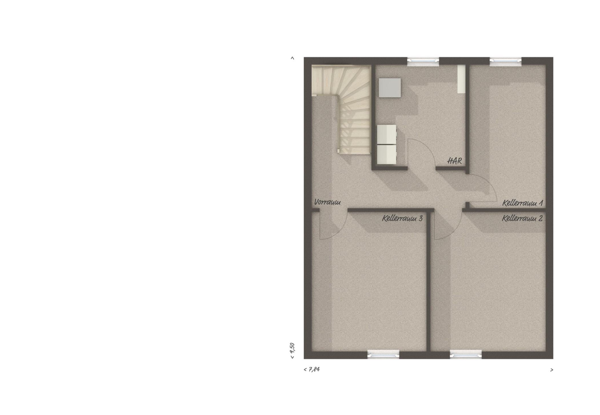Bungalow Haus Grundriss Keller - Massivhaus bauen Ideen Town Country Haus Bungalow 131 - HausbauDirekt.de