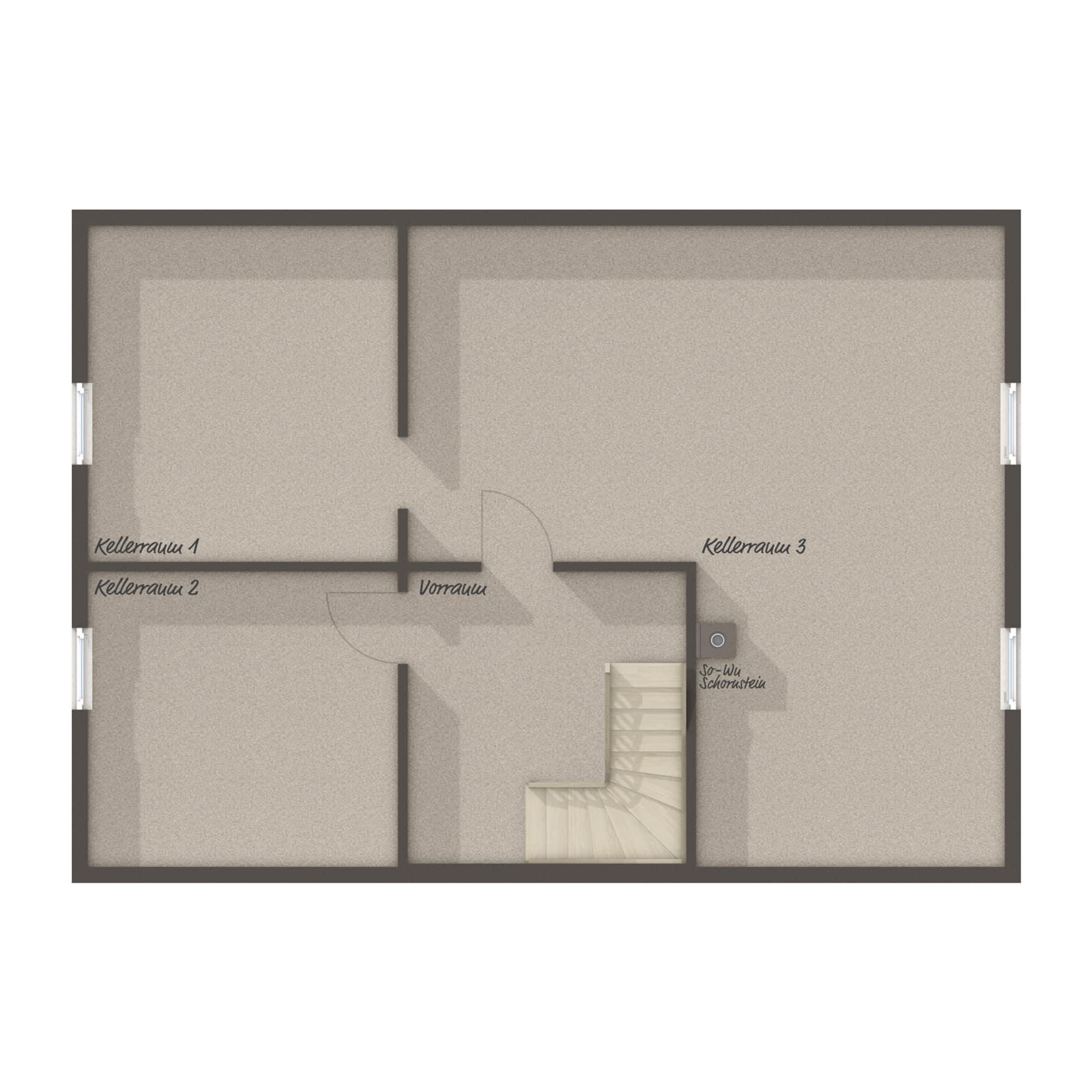 Grundriss Einfamilienhaus Keller - Town Country Haus Massivhaus Landhaus 142 - HausbauDirekt.de