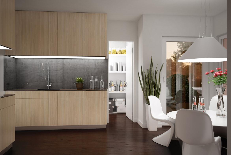 Offene Küche mit Esstisch - Haus Design innen Ideen Einrichtung EVOLUTION 154 V5 Bien Zenker Fertighaus - HausbauDirekt.de