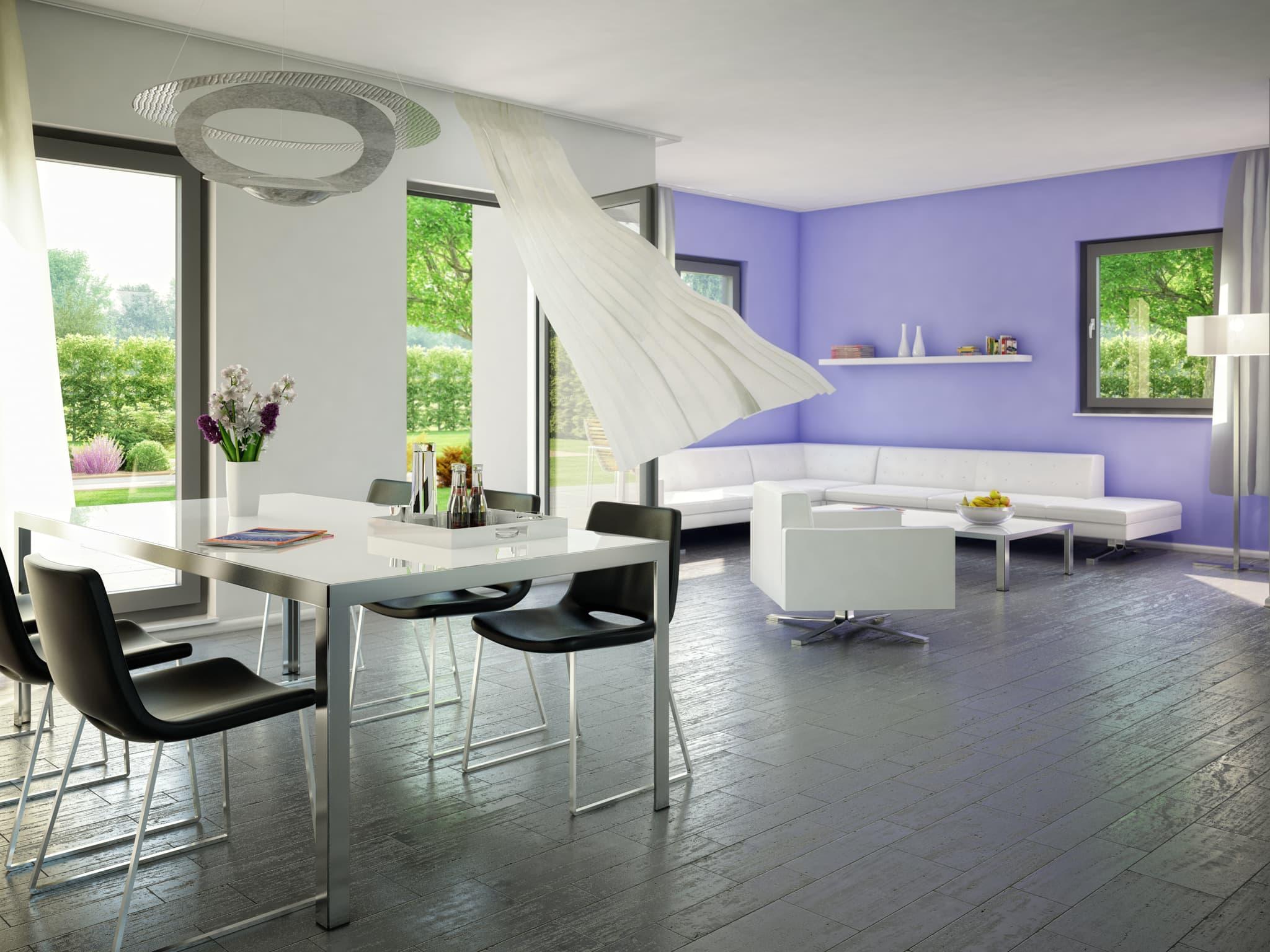 Inneneinrichtung Wohn-Esszimmer Evolution 148 Bien Zenker Haus