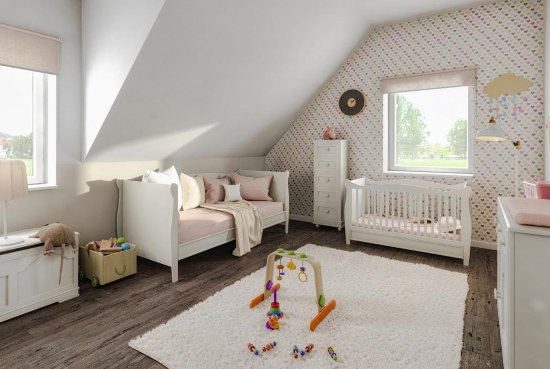Kinderzimmer mit Dachschräge - Wohnideen Town Country Haus Flair 125 Elegance - HausbauDirekt.de