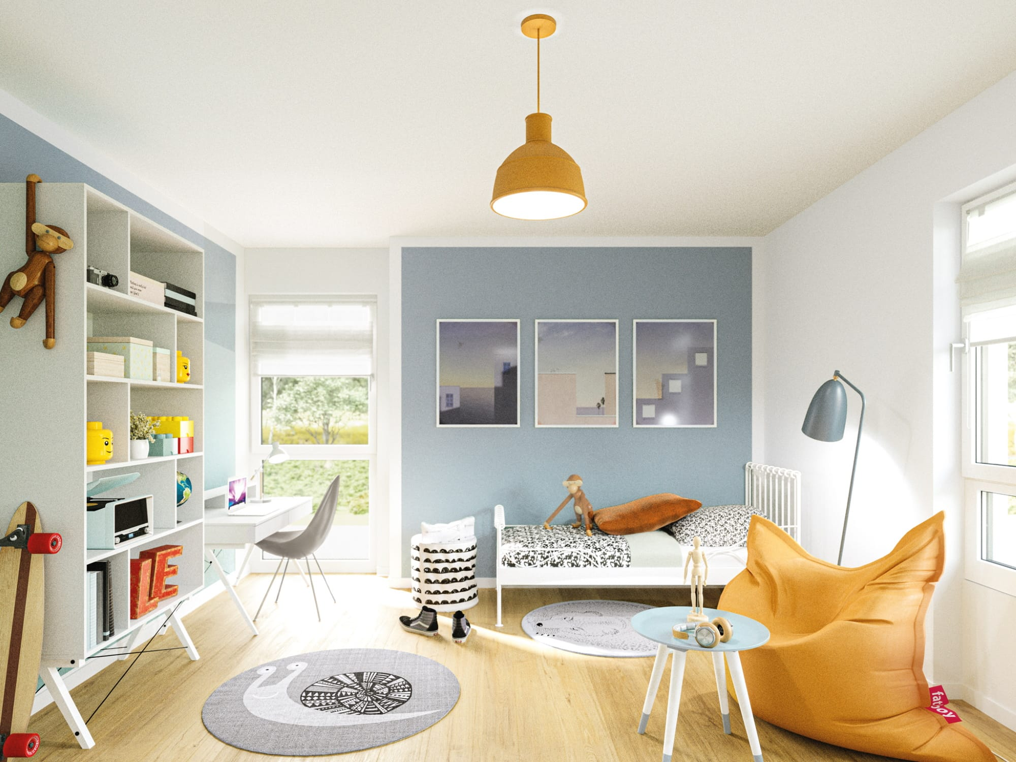 Kinderzimmer - Ideen Inneneinrichtung Haus Design Bien Zenker Fertighaus Stadtvilla EDITION 125 V5 - HausbauDirekt.de