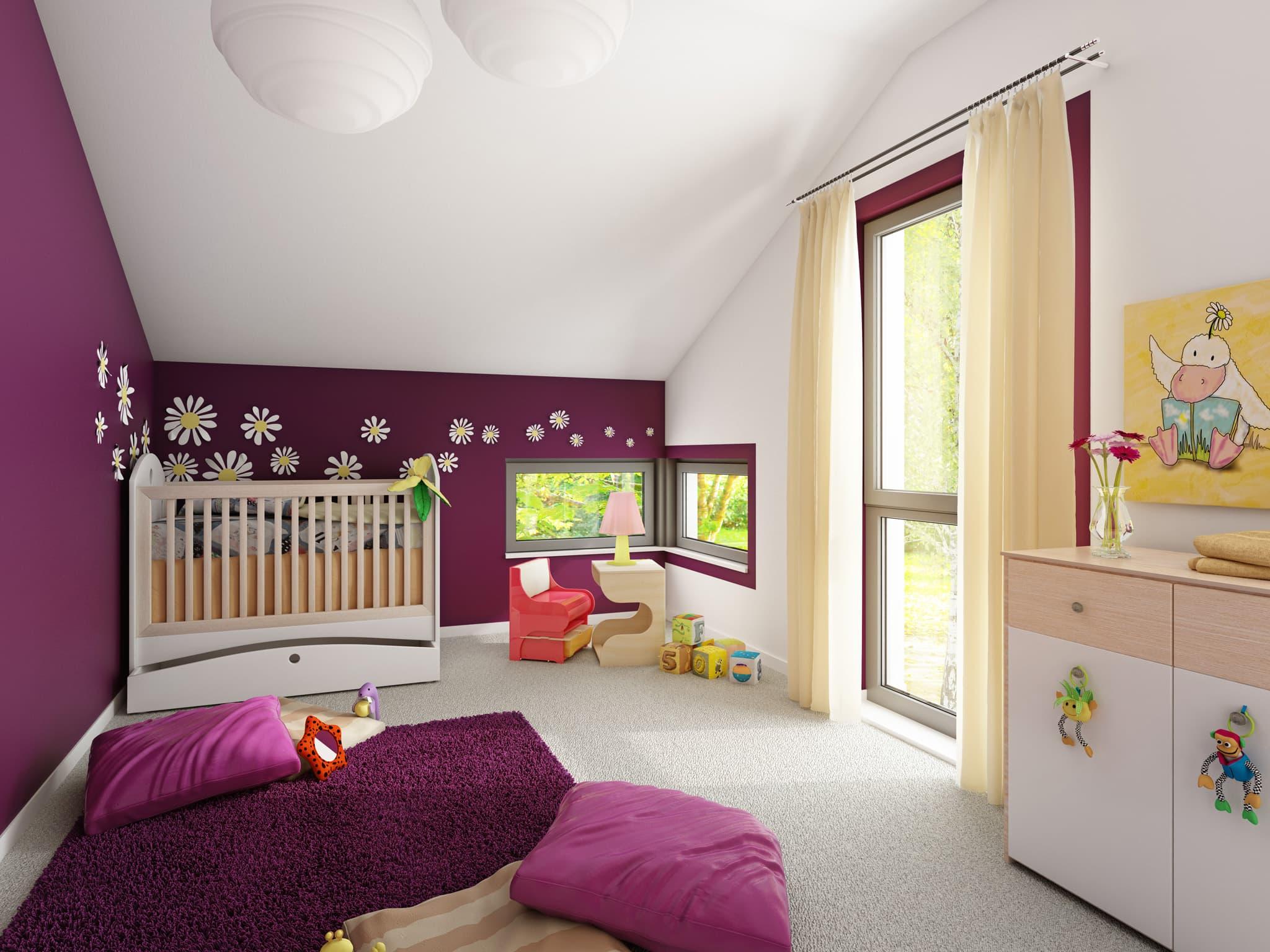 Kinderzimmer Ideen - Inneneinrichtung Fertighaus SOLUTION 204 V4 von Living Haus - HausbauDirekt.de