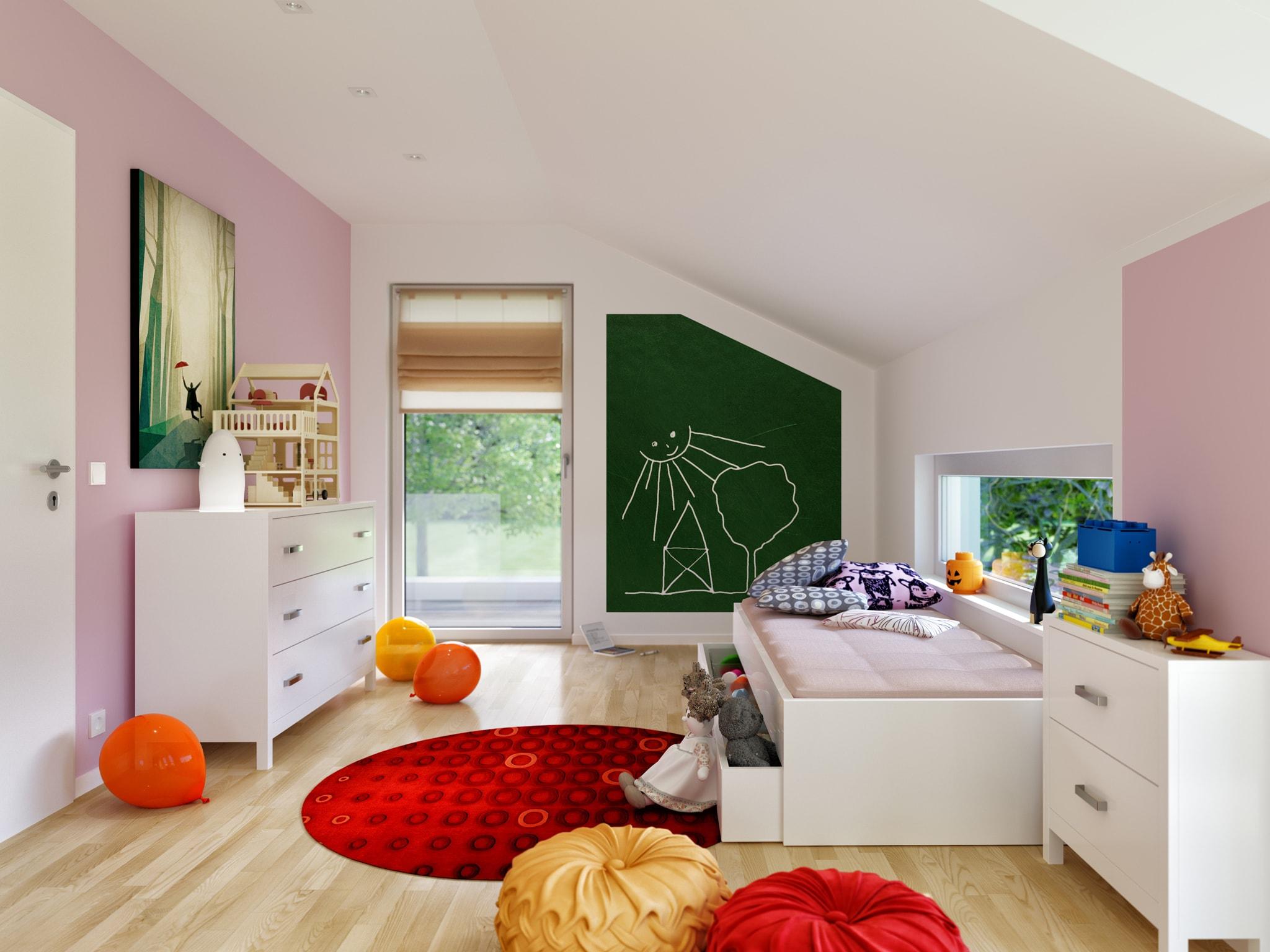 Kinderzimmer Ideen - Haus Inneneinrichtung Bien Zenker Fertighaus FANTASTIC 162 V5 - HausbauDirekt.de
