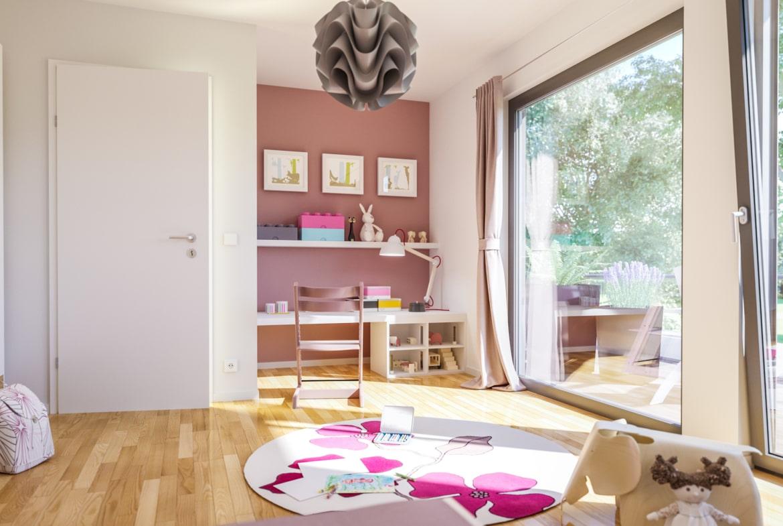 Kinderzimmer - Ideen Stadtvilla Inneneinrichtung Bien Zenker Fertighaus FANTASTIC 163 V8 - HausbauDirekt.de