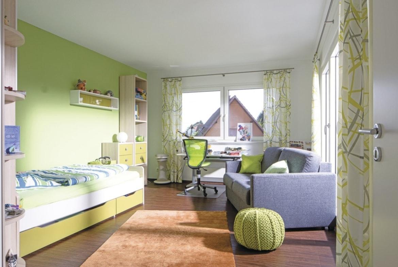 Kinderzimmer/ Jugendzimmer grün - Haus Design innen Ideen Einrichtung WeberHaus Stadtvilla - HausbauDirekt.de