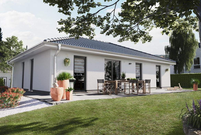 Massivhaus Bungalow mit Walmdach Architektur, 4 Zimmer, 108 qm - Haus bauen Ideen Town Country Haus Bungalow 110 Elegance - HausbauDirekt.de