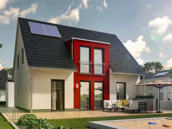Massivhaus modern mit Satteldach & Giebel, 5 Zimmer, 125 qm - Town Country Haus Flair 125 Style - HausbauDirekt.de