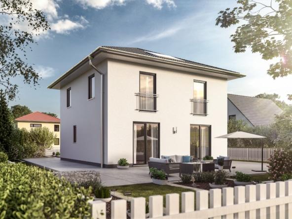 Massivhaus Stadtvilla modern mit Walmdach - Town Country Haus Flair 124 Elegance - HausbauDirekt.de