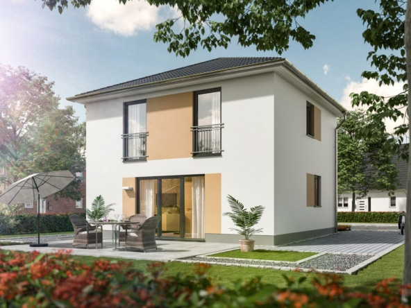 Massivhaus Stadtvilla modern mit Walmdach bauen - STADTHAUS 100 Town & Country Haus - HausbauDirekt.de
