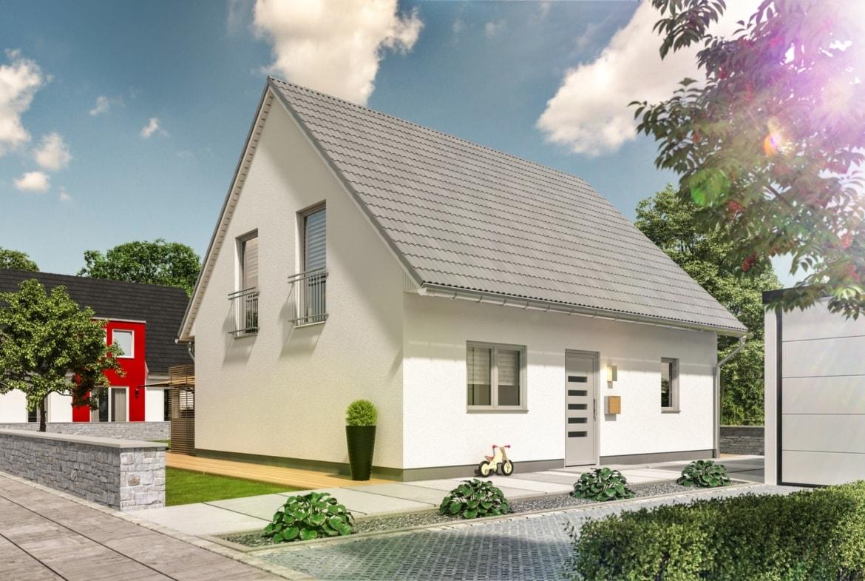 Massivhaus klassisch mit Satteldach - Town Country Haus Flair 125 Elegance - HausbauDirekt.de