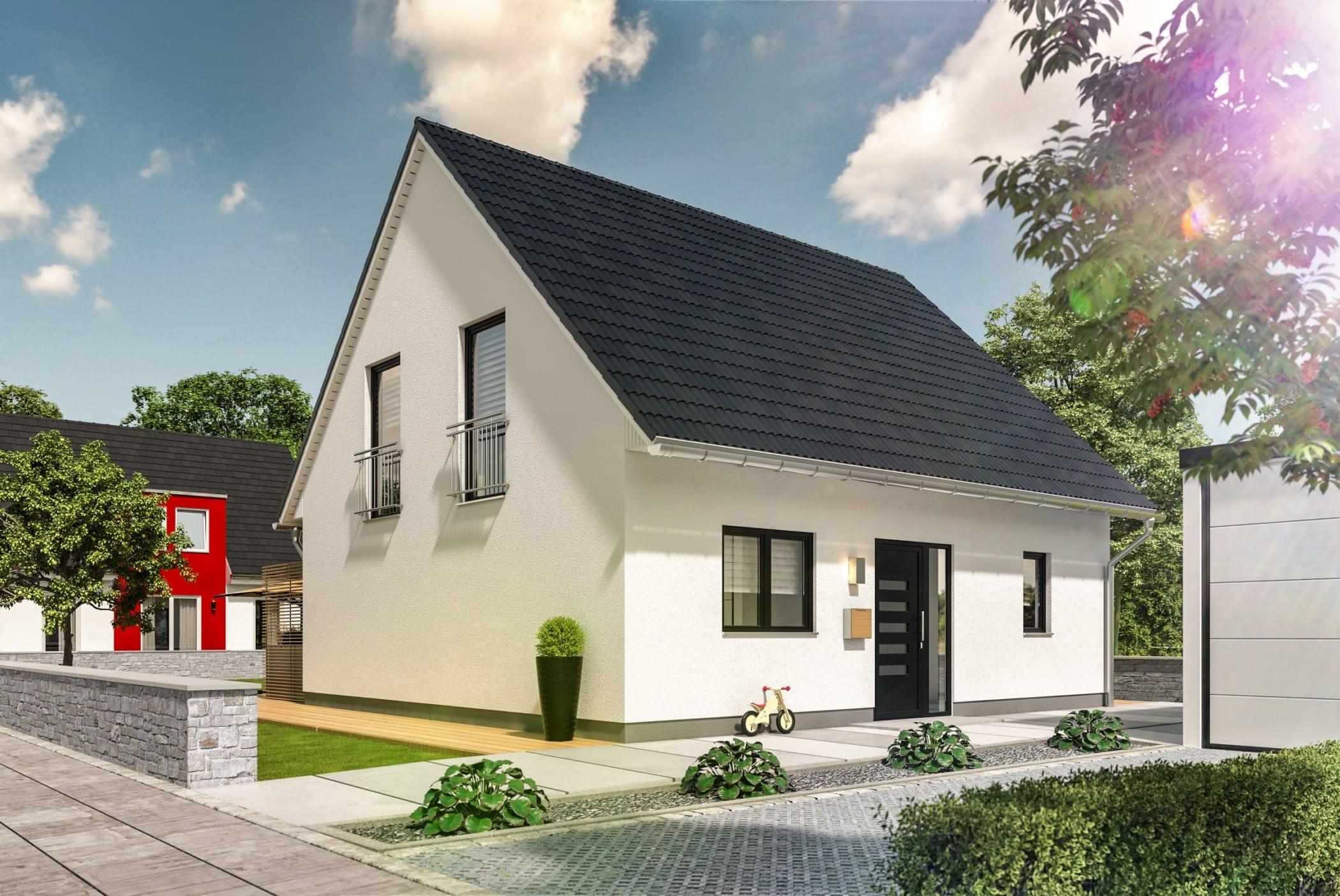 Massivhaus mit Satteldach, 5 Zimmer Grundriss, 125 qm, mit Keller - Town Country Haus Flair 125 Style - HausbauDirekt.de