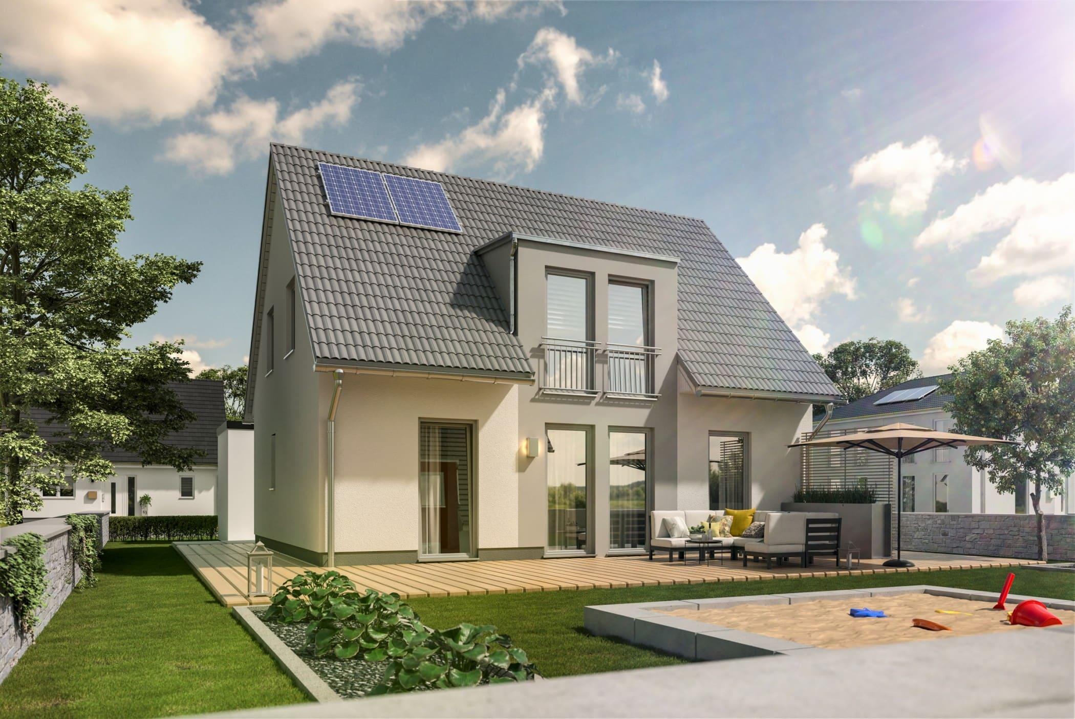 Massivhaus modern mit Satteldach & Zwerchgiebel - Town Country Haus Flair 125 Elegance - HausbauDirekt.de
