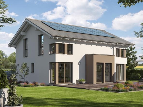 Modernes Fertighaus mit Satteldach Architektur & Erker Anbau - Haus bauen Ideen Bien Zenker Einfamilienhaus EVOLUTION 165 V4 - HausbauDirekt.de