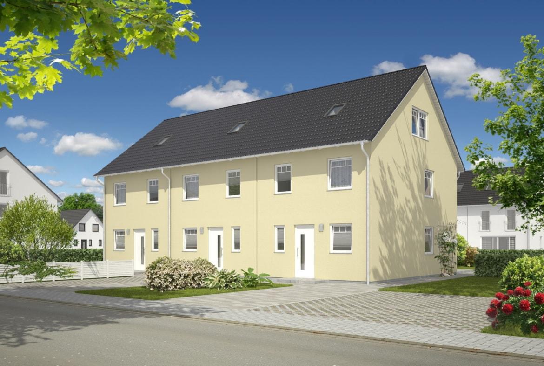 Reihenhaus mit Satteldach Architektur - Massivhaus bauen Ideen Town Country Haus Mainz 128 Trend - HausbauDirekt.de