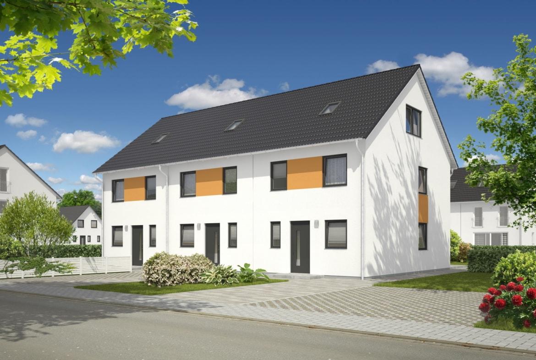 Reihenhaus mit Satteldach Architektur - Massivhaus bauen Ideen Town Country Haus Mainz 128 Style - HausbauDirekt.de