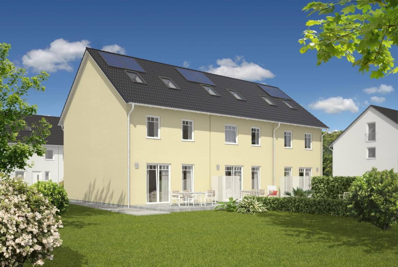 Reihenhaus Neubau klassisch mit Satteldach Architektur - Massivhaus bauen Ideen Town Country Haus Mainz 128 Trend - HausbauDirekt.de