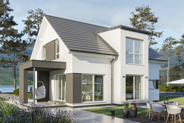 Modernes Satteldach Haus mit Galerie & Zwerchgiebel, 4 Zimmer, 130 qm - Bien Zenker Fertighaus EDITION 134 V2 - HausbauDirekt.de