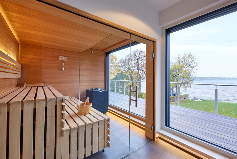 Sauna - Wohnideen Interior Design Haus Inneneinrichtung BAUFRITZ Architektenhaus MEHRBLICK - HausbauDirekt.de