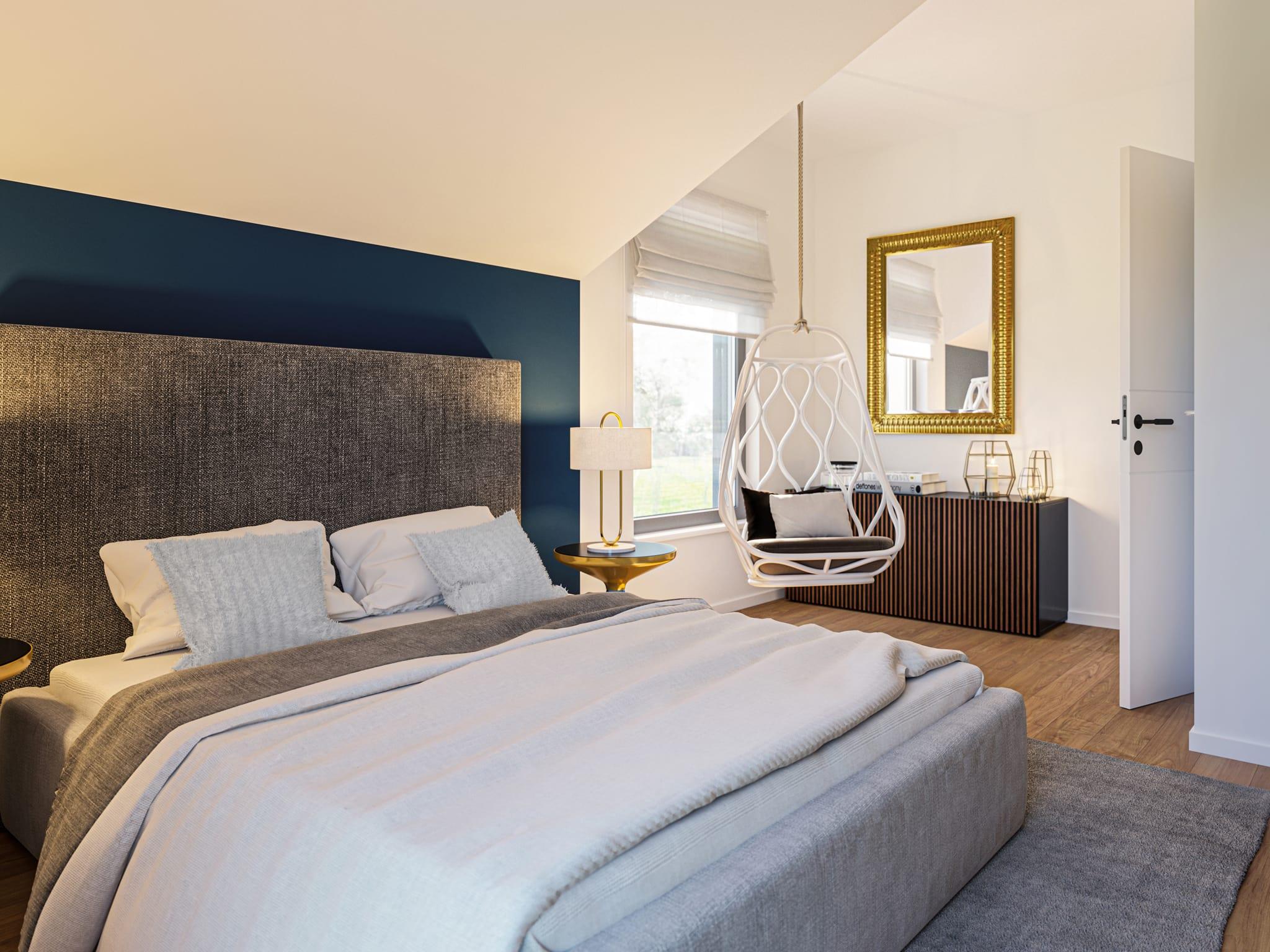 Schlafzimmer Ideen - Haus Design Inneneinrichtung Einfamilienhaus Bien Zenker Fertighaus EDITION 120 V3 - HausbauDirekt.de