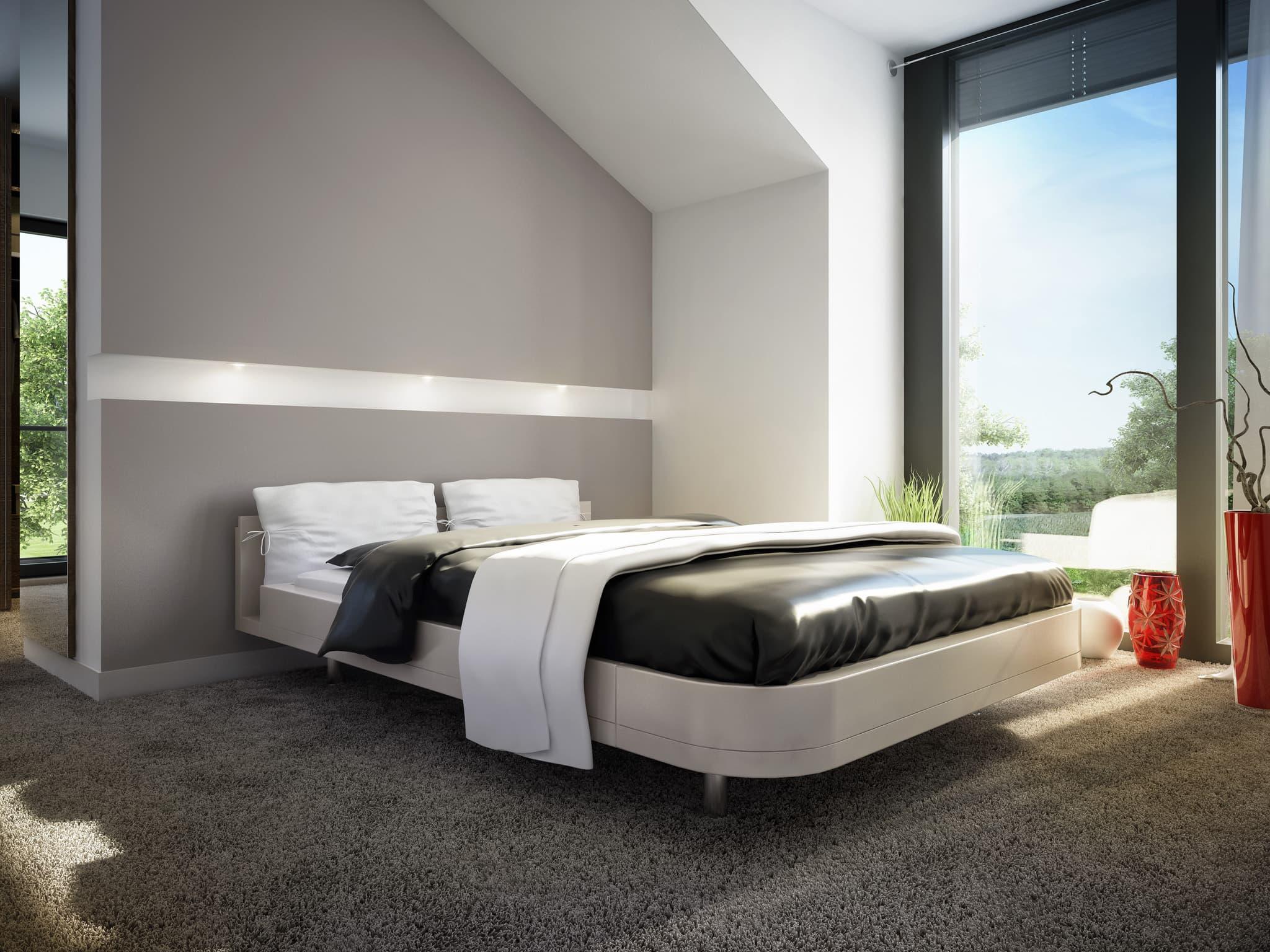 Schlafzimmer - Ideen Inneneinrichtung Einfamilienhaus Bien-Zenker Fertighaus CONCEPT-M Muenchen - HausbauDirekt.de