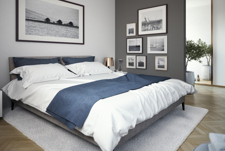 Schlafzimmer modern - Ideen Inneneinrichtung Fertighaus SOLUTION 204 V4 von Living Haus - HausbauDirekt.de