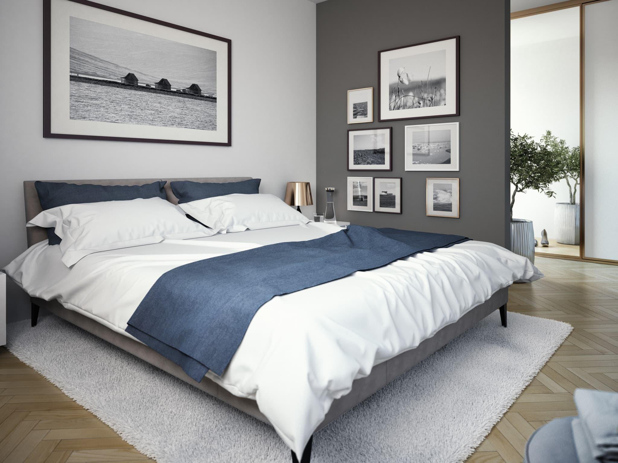 Schlafzimmer Ideen - Inneneinrichtung Fertighaus SOLUTION 204 V8 von Living Haus - HausbauDirekt.de