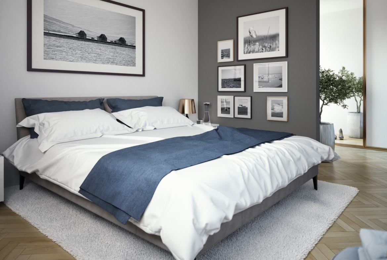 Schlafzimmer Ideen - Einrichtung Fertighaus SOLUTION 204 V9 von Living Haus - HausbauDirekt.de