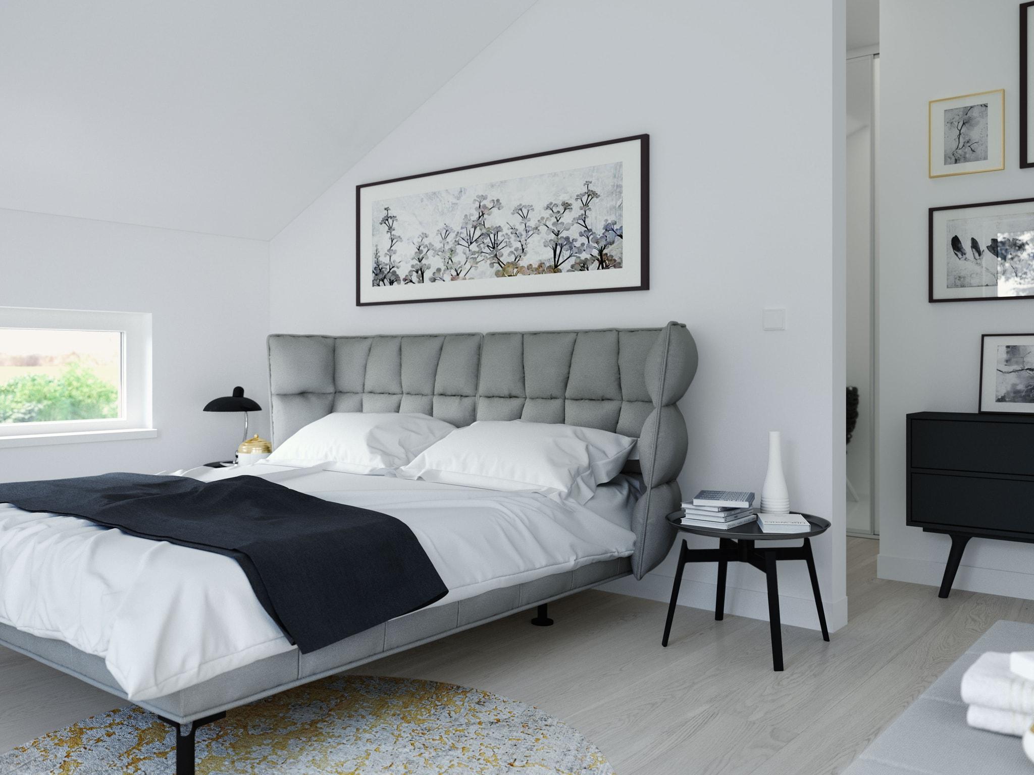 Modernes Schlafzimmer - Ideen Inneneinrichtung Fertighaus SUNSHINE 165 V4 von Living Haus - HausbauDirekt.de