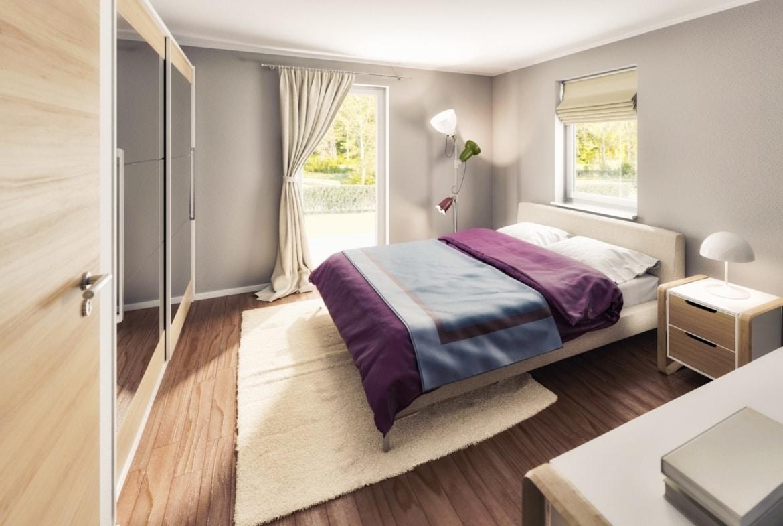 Schlafzimmer - Inneneinrichtung Bungalow Haus innen Town & Country Haus Bungalow 92 - HausbauDirekt.de