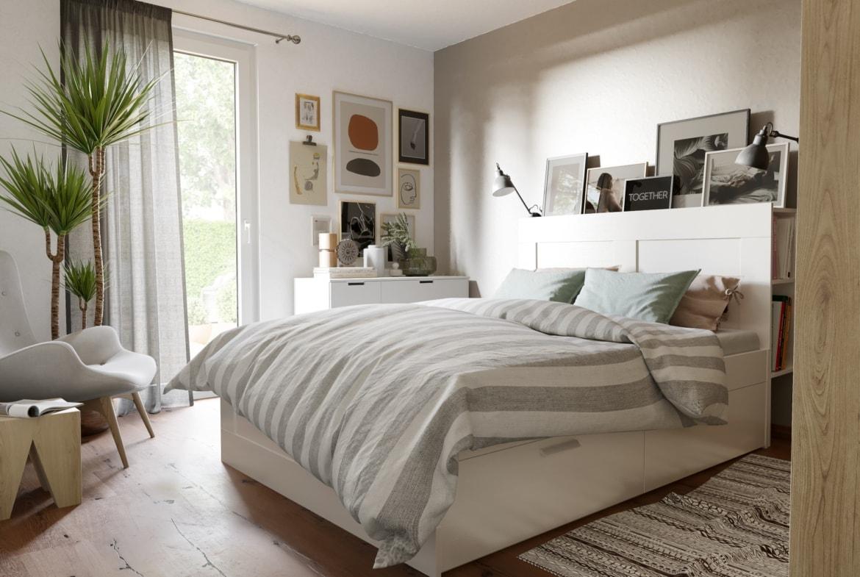 Schlafzimmer weiß Landhausstil - Haus Design Ideen Inneneinrichtung Town Country Haus Bungalow 78 - HausbauDirekt.de