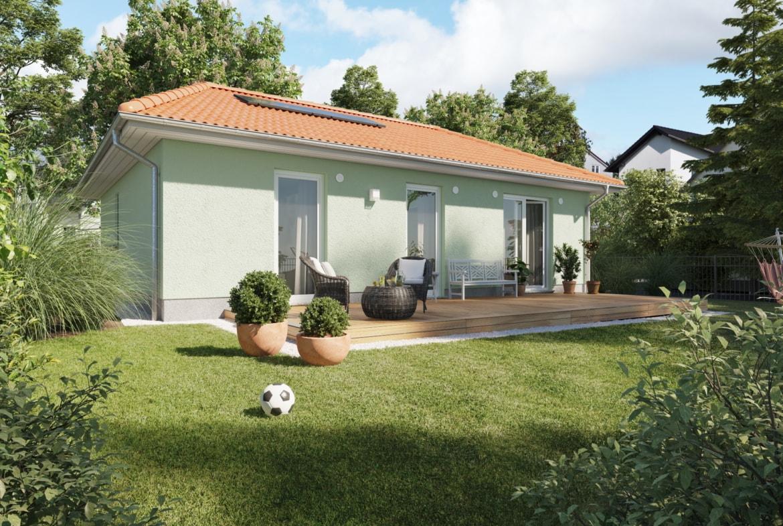 Bungalow Haus mit Walmdach Architektur & Putz Fassade - Haus bauen Ideen Town Country Massivhaus Bungalow 78 Trend - HausbauDirekt.de
